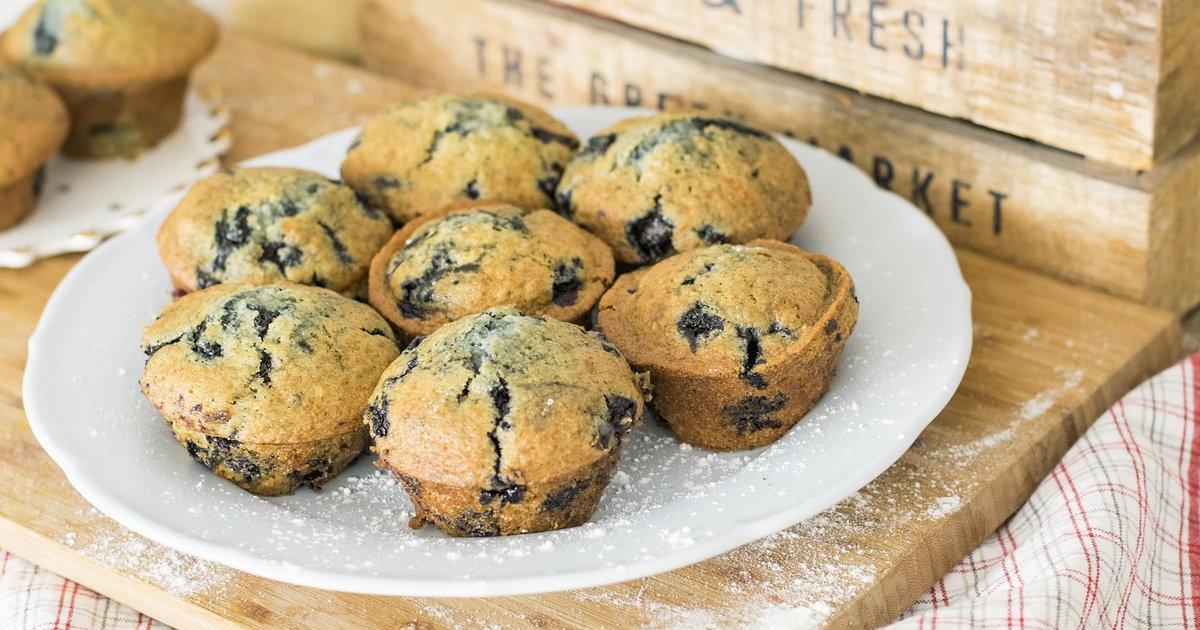 Saftige Blaubeermuffins - Rezept mit Buttermilch Titelbild